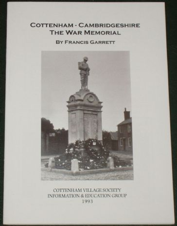 Cottenham, Cambridgeshire - The War Memorial, by Francis Garrett